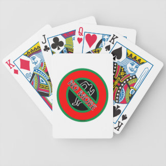 NO MORE police violence against Black People Bicycle Playing Cards