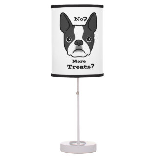 No? More Treats? Boston Terrier Table Lamp