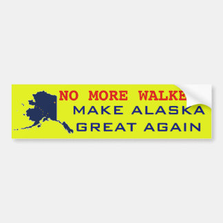 NO MORE WALKER BUMPER STICKER