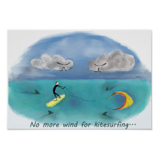 No more wind for kitesurfing poster