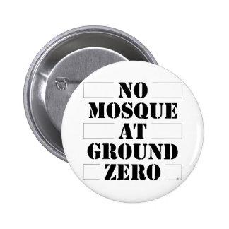 No Mosque At Ground Zero Pinback Button