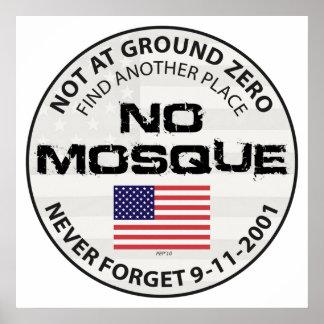 No Mosque At Ground Zero Poster