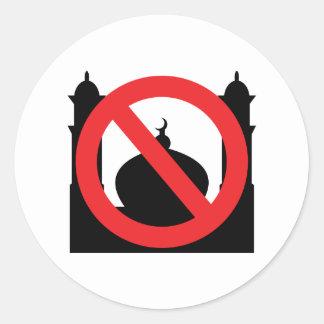 No Mosque No Text Classic Round Sticker