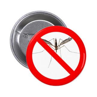 NO Mosquitos 2 Inch Round Button