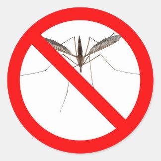 NO Mosquitos Classic Round Sticker