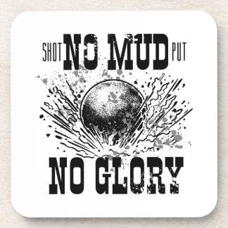 no mud no glory beverage coasters