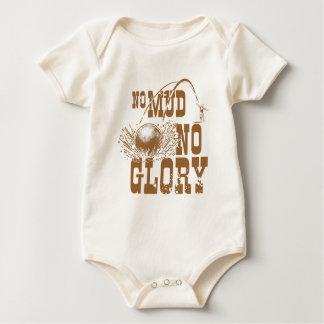 no mud no glory II Baby Bodysuit