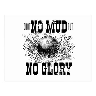 no mud no glory postcard