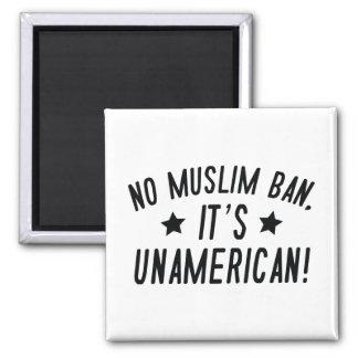 No Muslim Ban Square Magnet