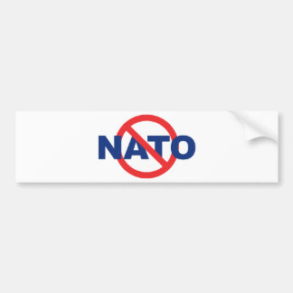 No NATO Bumper Sticker