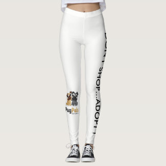 no need to buy when you can adopt. Adopt a pug Leggings