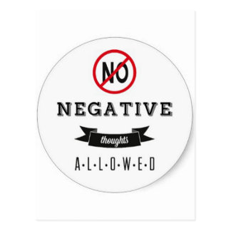 No Negatives Postcard