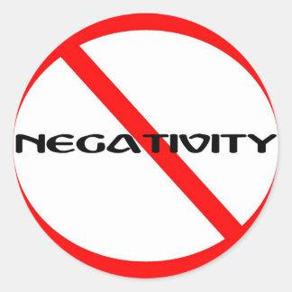 No Negativity Classic Round Sticker