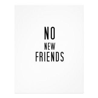 No New Friends Letterhead