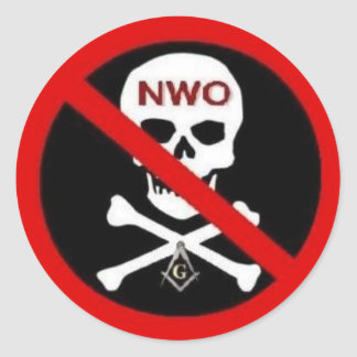 NO NEW WORLD ORDER Sticker