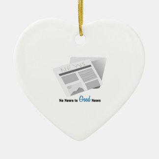 No News Is Good News Ceramic Heart Ornament