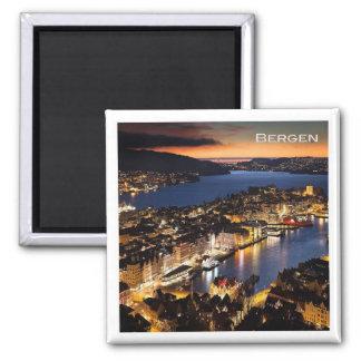 NO # Norway - Bergen by Night Magnet