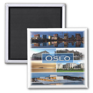 NO * Norway - Oslo - Mosaic Magnet
