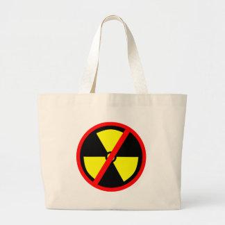 No Nuclear Anti Nuke Symbol Large Tote Bag