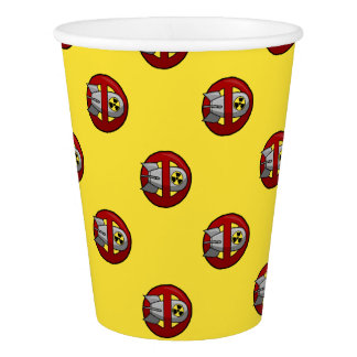 No nuclear weapons paper cup