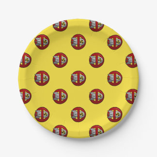 No nuclear weapons paper plate