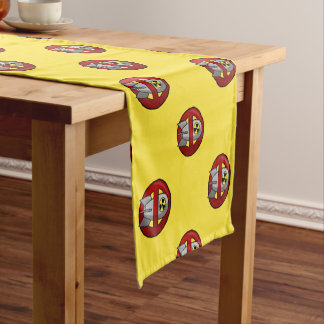 No nuclear weapons short table runner