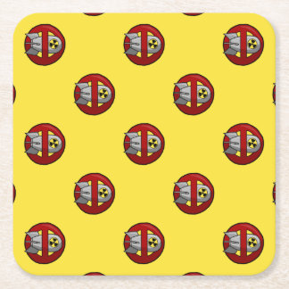 No nuclear weapons square paper coaster