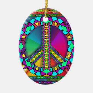 no nuke zone colored ceramic ornament