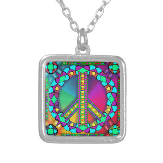 no nuke zone colored silver plated necklace