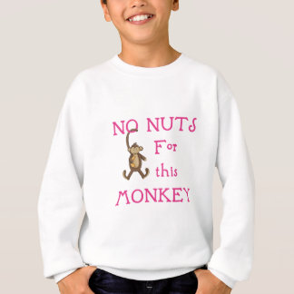 No nuts for this monkey-pink sweatshirt