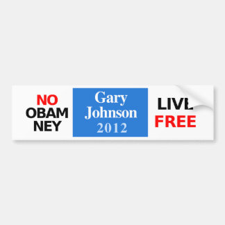 NO OBAMNEY Gary Johnson 2012 bumper sticker