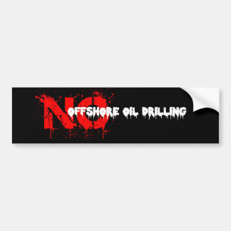 No Offshore Oil Drilling Bumper Sticker