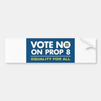 No On Prop 8- bumper sticker Car Bumper Sticker