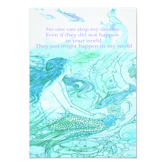 """No one can stop my dreams 5"""" x 7"""" invitation card"""