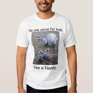 No one cares for kids like a Nanny. Shirts