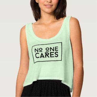 No One Cares Tank Top