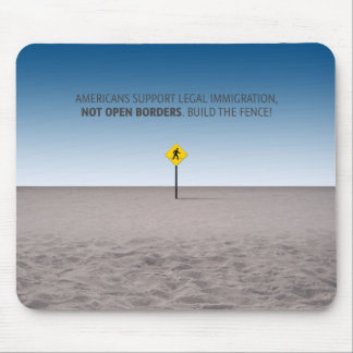 No Open Borders Mouse Pad