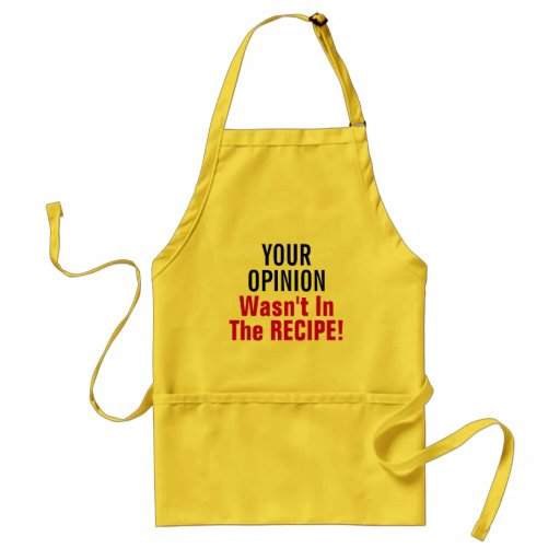 No Opinion Needed? Aprons