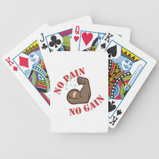 No Pain Bicycle Playing Cards