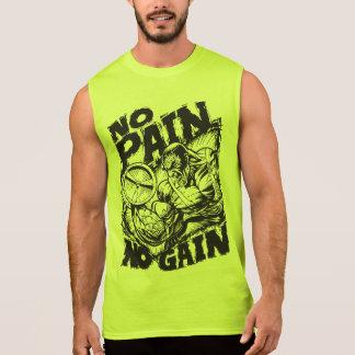 No Pain No Gain - Bodybuilding Motivation Sleeveless Shirt