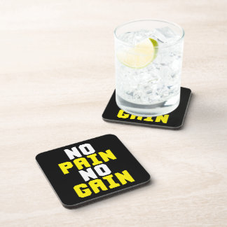No Pain, No Gain - Gym Workout Motivational Coaster
