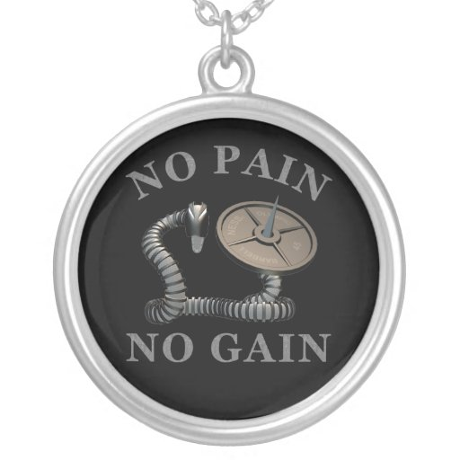 No Pain No Gain Infiltrator Snake Weightlifting Ne Custom Necklace