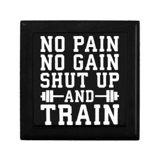 No Pain No Gain, Shut Up And Train - Inspirational Gift Box