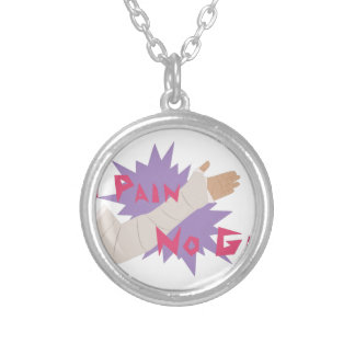 No Pain No Gain Silver Plated Necklace