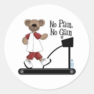No Pain No Gain Stickers