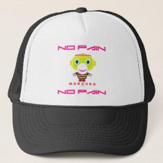No Pain No Pain-Cute Monkey-Morocko Trucker Hat