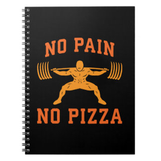 No Pain, No Pizza - Carbs - Funny Workout Novelty Notebooks