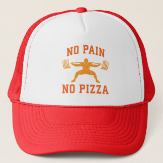 No Pain, No Pizza - Carbs - Funny Workout Novelty Trucker Hat