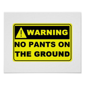 No Pants On The Ground Poster