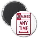 No Parking Any Time Road Sign Fridge Magnet